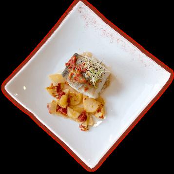 Plats del menú cap de setmana del restaurant Les Pedretes